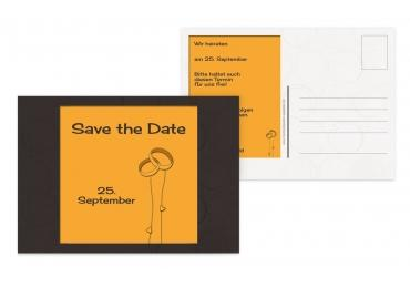 Save-the-Date Eleganz PfirsichOrange 148x105mm