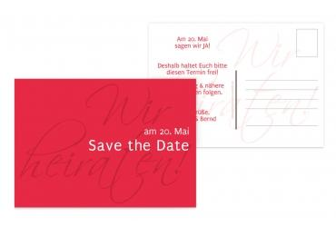 Save-the-Date Liebesbrief Rot 148x105mm