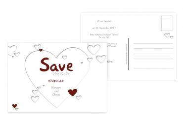 Save-the-Date Herzform 148x105mm 5000092118