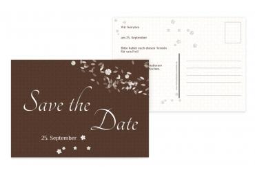 Save-the-Date romantic flower 148x105mm 5000092317
