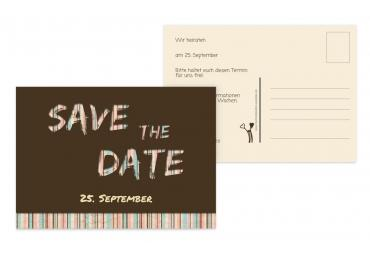 Save-the-Date Wir heiraten Braun 148x105mm