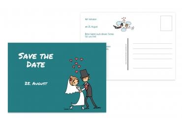 Save-the-Date Comic Brautpaar 148x105mm 5000092457