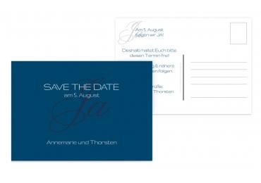 Save-the-Date Sagja Blau 148x105mm