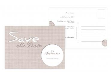 Save-the-Date wedding harmony OckerBeige 148x105mm
