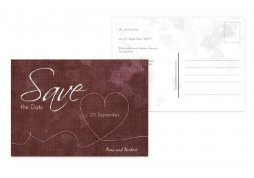 Save-the-Date ewiges Band 148x105mm 5000092982