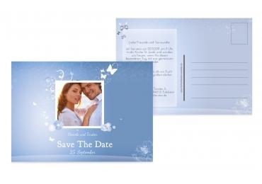 Save-the-Date Dream MattBlauDunkler 148x105mm