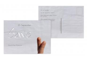 Save-the-Date Fingerpaar 148x105mm 5000092433