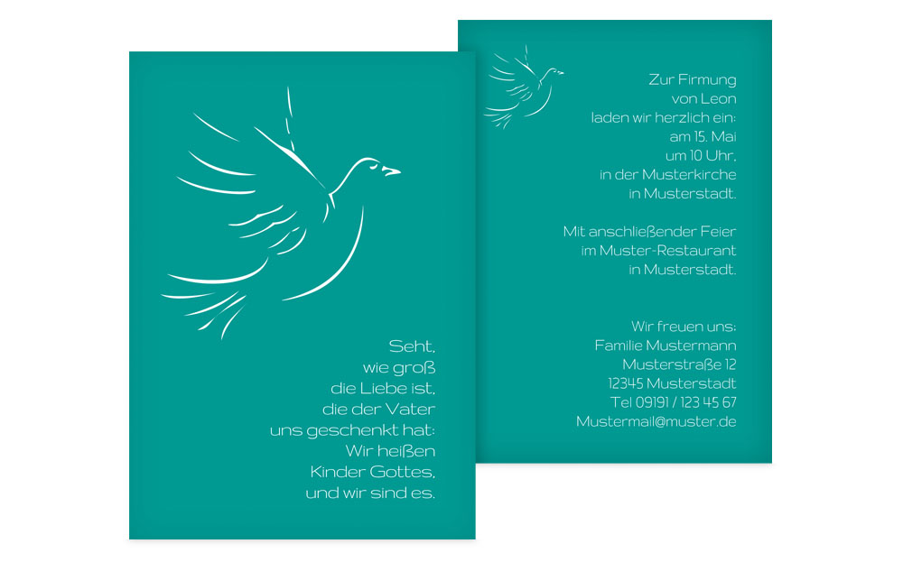 Familieneinladung zur Firmung auf> karten-paradies.de