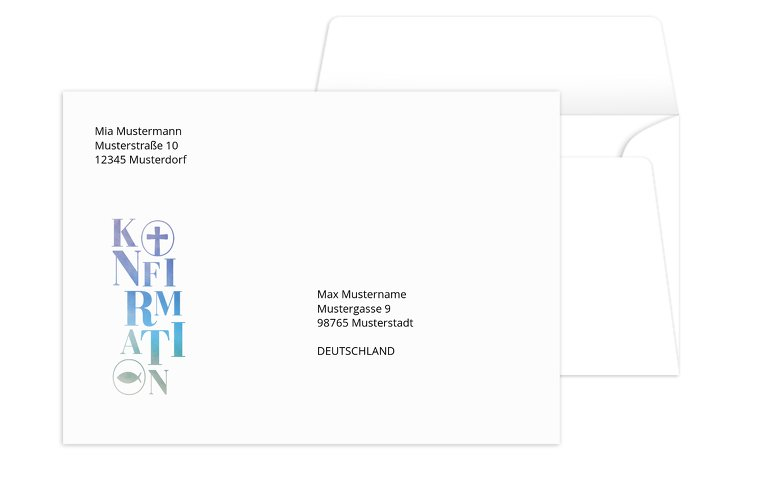 Konfirmation Umschlag Himmelreich