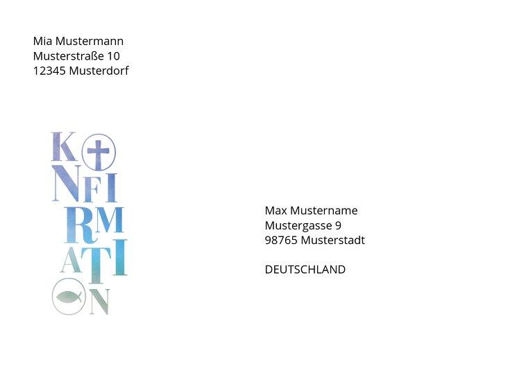 Ansicht 2 - Konfirmation Umschlag Himmelreich