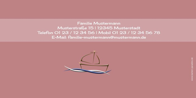 Ansicht 2 - Dankeskarte Schiffchen auf Wellen