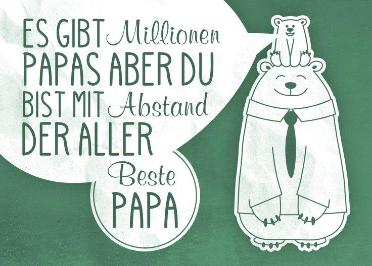 Ansicht 2 - Vatertagskarte Papa Bär