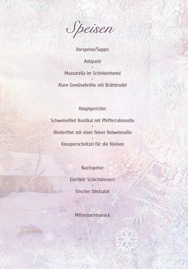 Ansicht 5 - Menükarte Schneehütte