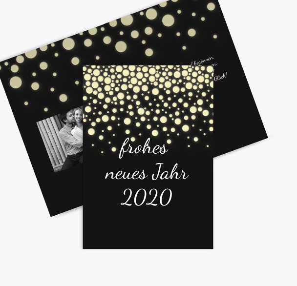 Neujahrskarte Funkelregen