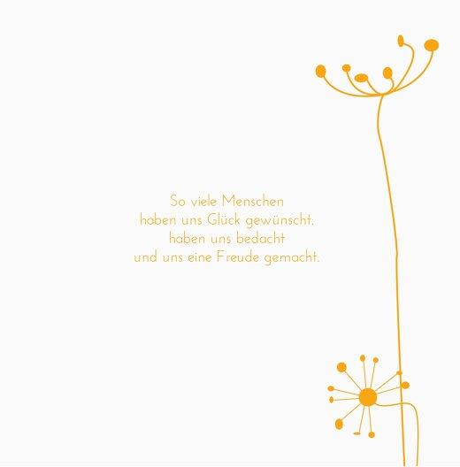 Ansicht 7 - Hochzeit Dankeskarte abstrakte Blumen