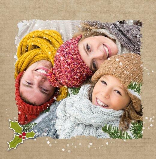 Ansicht 4 - Foto Grußkarte Weihnachtskranz