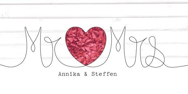 Ansicht 3 - Hochzeit Dankeskarte Mr&Mrs