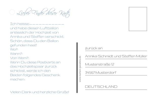 Ansicht 3 - Hochzeit Ballonkarte Sanft