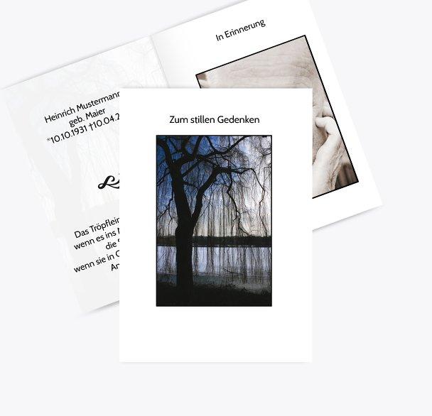 Sterbebildkarte Baum
