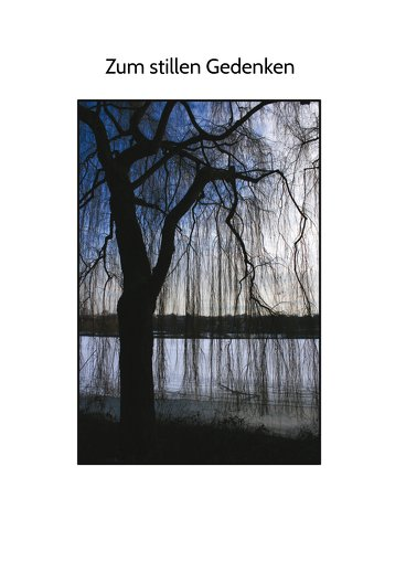 Ansicht 3 - Sterbebildkarte Baum