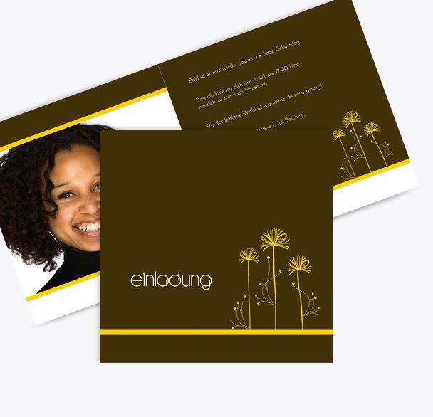 Einladungskarten abstract flower Foto