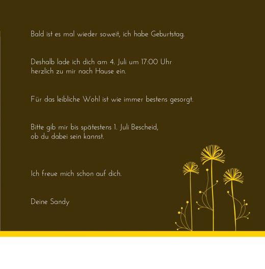 Ansicht 5 - Einladungskarten abstract flower Foto