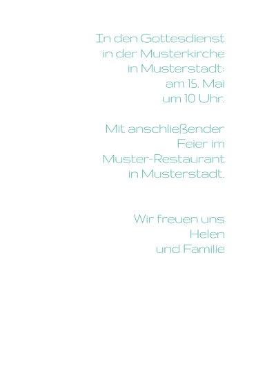 Ansicht 5 - Konfirmationskarte Einladung Taube
