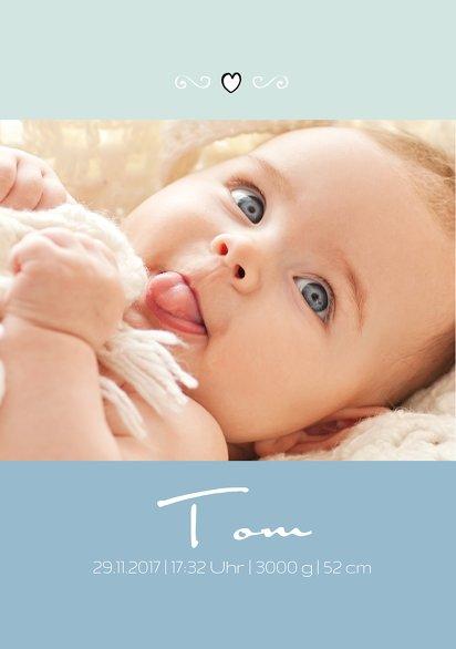 Ansicht 4 - Baby Dankeskarte Welcome