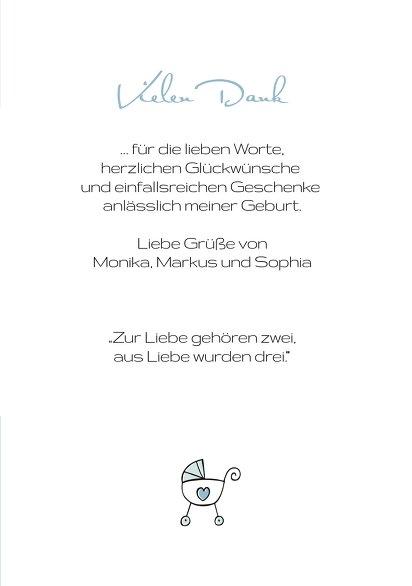 Ansicht 5 - Baby Dankeskarte Welcome