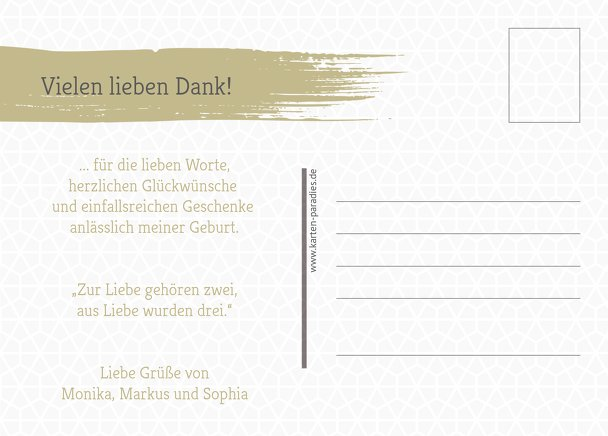 Ansicht 3 - Baby Dankeskarte Schiefer