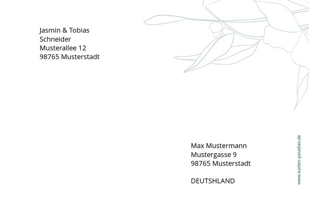 Ansicht 2 - Bedruckte Umschläge Zahrte Blume