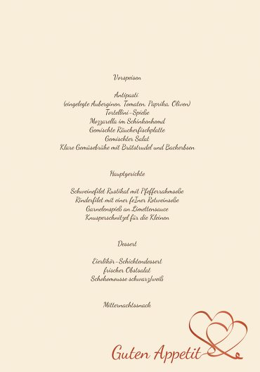 Ansicht 5 - Hochzeit Menükarte Turteltäubchen