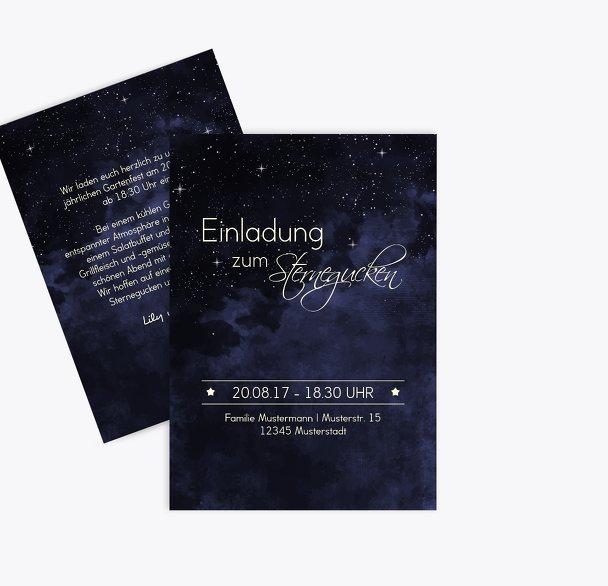 Einladung Sommerfest Sternennacht