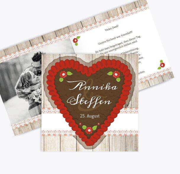 Hochzeit Dankeskarte München