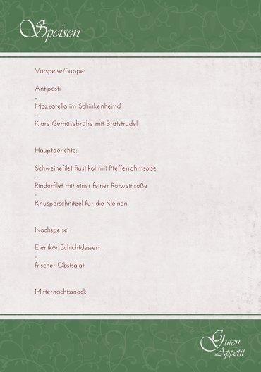 Ansicht 5 - Menükarte classic Elch