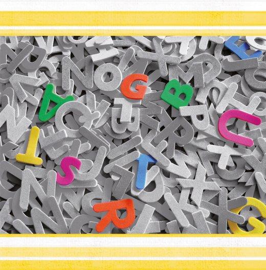 Ansicht 3 - Geburtstag Buchstabensalat Foto