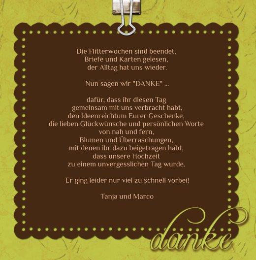 Ansicht 5 - Hochzeit Dankeskarte Liebesnachricht