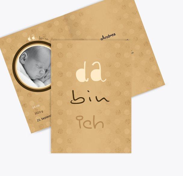 Geburtskarte Da bin ich