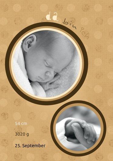 Ansicht 4 - Geburtskarte Da bin ich