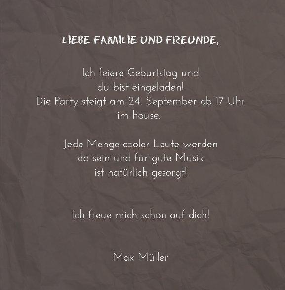 Ansicht 5 - Geburtstagseinladung Faltiges Papier