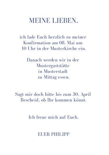 Ansicht 5 - Konfirmation Einladung Himmelreich