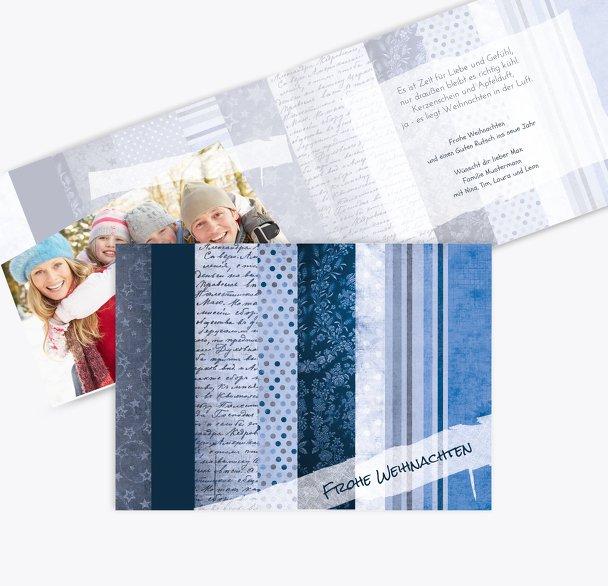 Foto Grußkarte Geschenkpapier