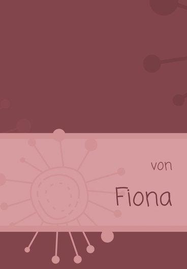 Ansicht 2 - Konfirmation Einladungskarte Blumen