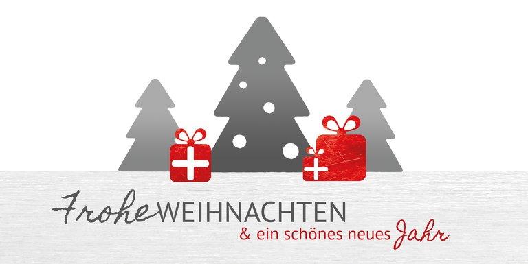 Ansicht 3 - Foto Weihnachtsgrußkarte Geschenkebaum