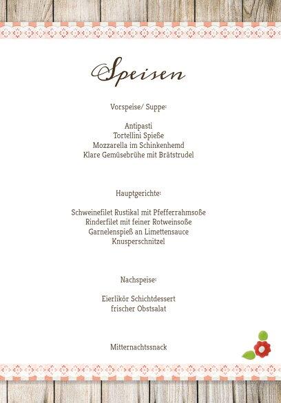 Ansicht 5 - Hochzeit Menükarte München