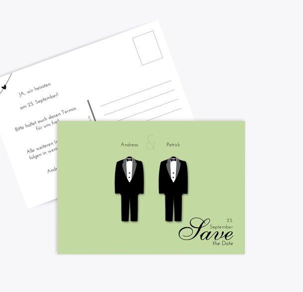 Hochzeit Save-the-Date suits