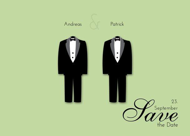 Ansicht 2 - Hochzeit Save-the-Date suits