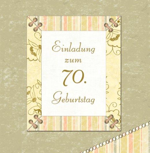 Ansicht 3 - Geburtstagseinladung Nostalgie 70 Foto