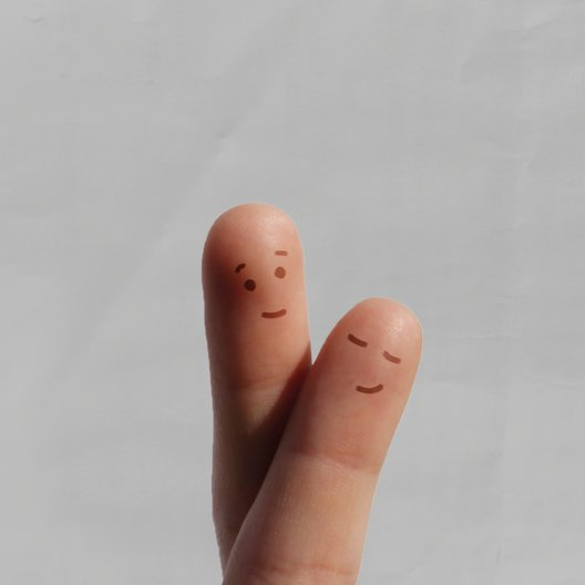 Ansicht 2 - Hochzeit Dankeskarte Fingerpaar