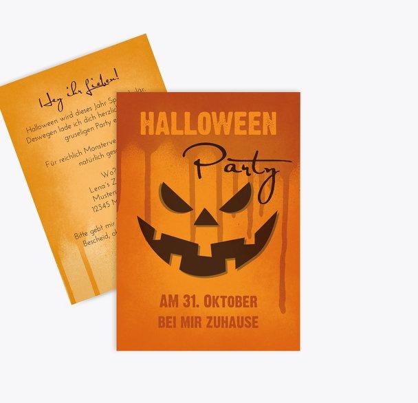 Halloweenkarte Kürbis